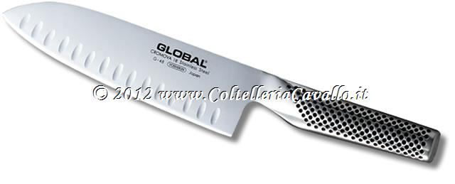 COLTELLO GLOBAL SANTOKU CON ALVEOLI G-80 (ex G48)