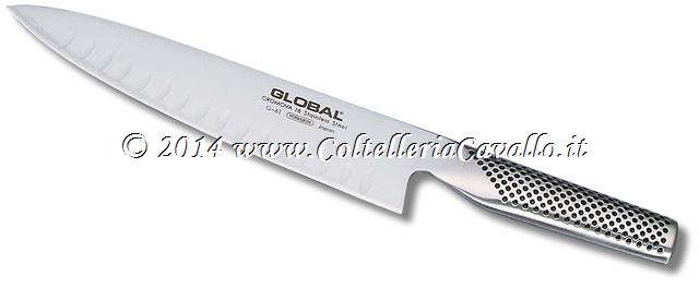 COLTELLO GLOBAL CUOCO CON ALVEOLI G-61
