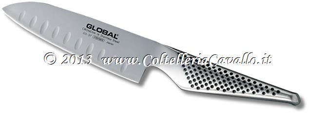 COLTELLO GLOBAL SANTOKU CON ALVEOLI GS-37